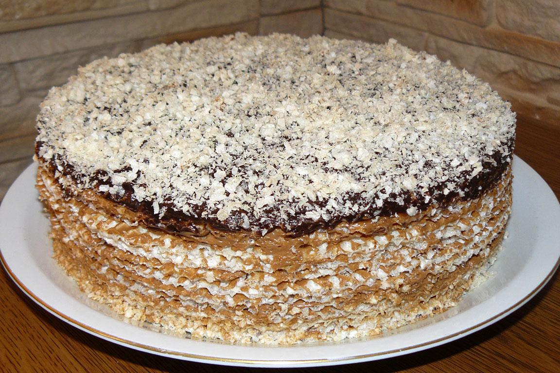 Торт из вафельных коржей рецепт в домашних условиях с бананами